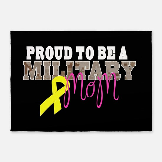 Proud to Be Military Mom 5'x7'Area Rug