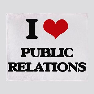 I Love Public Relations Throw Blanket