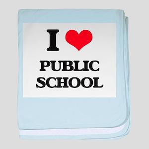 I Love Public School baby blanket
