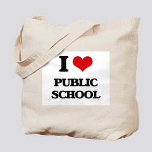 I Love Public School Tote Bag