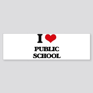 I Love Public School Bumper Sticker