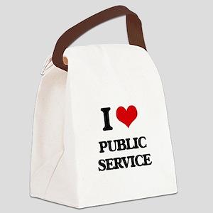 I Love Public Service Canvas Lunch Bag