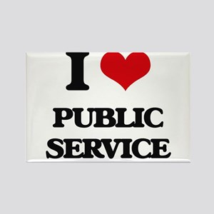 I Love Public Service Magnets