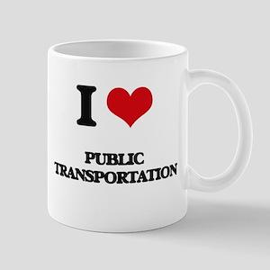 I Love Public Transportation Mugs