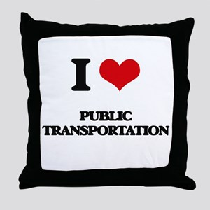 I Love Public Transportation Throw Pillow