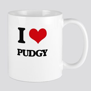 I Love Pudgy Mugs