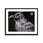 Raven Framed Panel Print