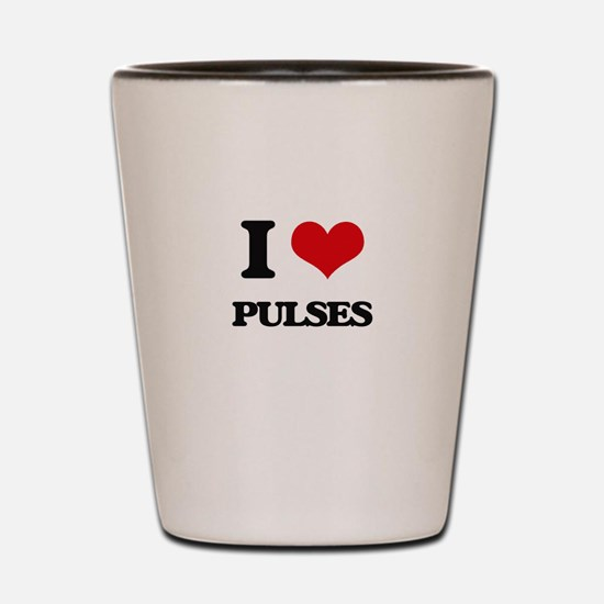I Love Pulses Shot Glass