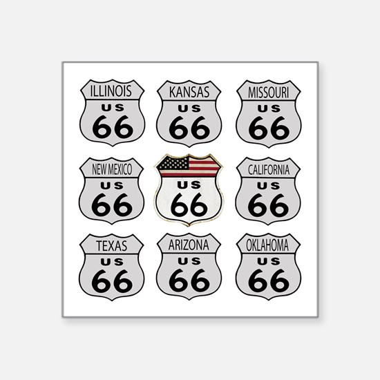 Route 66 Signs Sticker