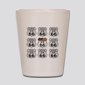 Route 66 Signs Shot Glass