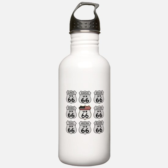 Route 66 Signs Water Bottle