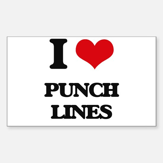 I Love Punch Lines Decal