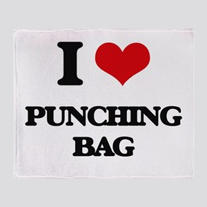 I Love Punching Bag Throw Blanket