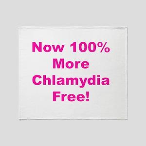 Chlamydia Free Throw Blanket