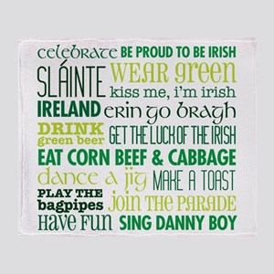 St. Patrick's Day Rules Throw Blanket