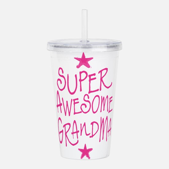 Super Awesome grandma Acrylic Double-wall Tumbler