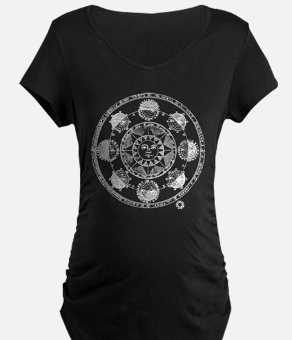 Medieval Astronomy Sun and Plane Maternity T-Shirt