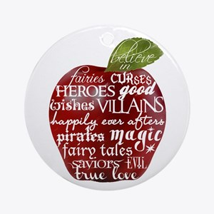 Believe In - Apple Ornament (Round)