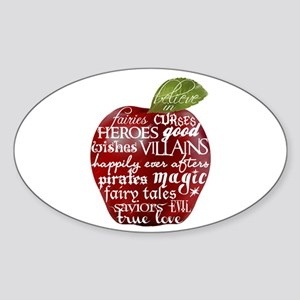 Believe In - Apple Sticker (Oval)