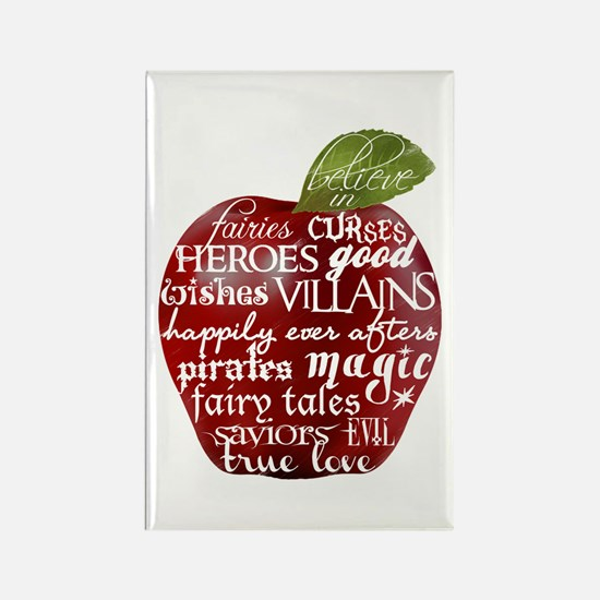 Believe In - Apple Rectangle Magnet