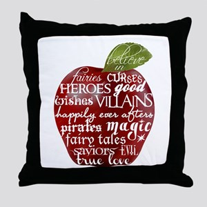 Believe In - Apple Throw Pillow