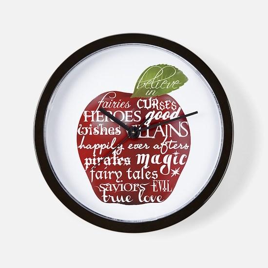 Believe In - Apple Wall Clock
