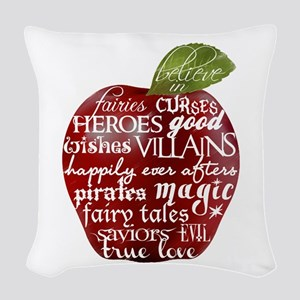 Believe In - Apple Woven Throw Pillow