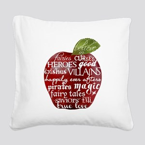Believe In - Apple Square Canvas Pillow