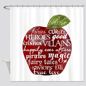 Believe In - Apple Shower Curtain