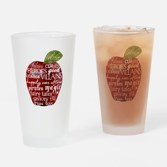Believe In - Apple Drinking Glass