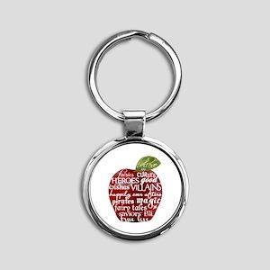 Believe In - Apple Round Keychain