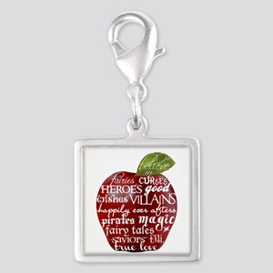 Believe In - Apple Silver Square Charm