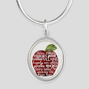 Believe In - Apple Silver Oval Necklace