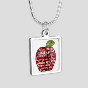 Believe In - Apple Silver Square Necklace