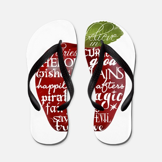 Believe In - Apple Flip Flops