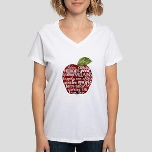 Believe In - Apple Women's V-Neck T-Shirt