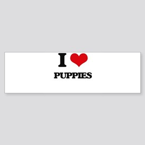 I Love Puppies Bumper Sticker