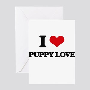 I Love Puppy Love Greeting Cards