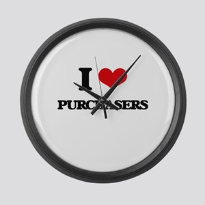I Love Purchasers Large Wall Clock
