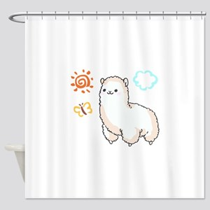 ALPACA Shower Curtain