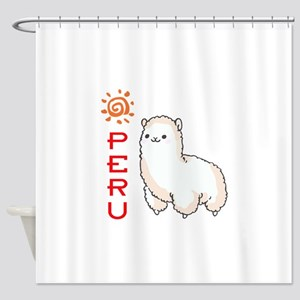 ALPACA PERU Shower Curtain
