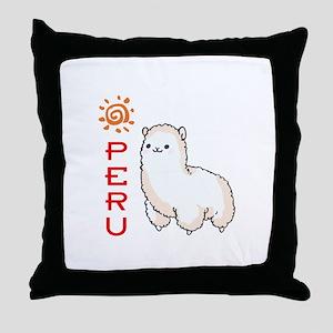 ALPACA PERU Throw Pillow