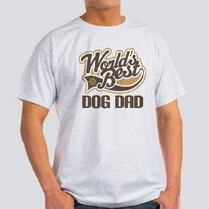 Worlds Best Dog Dad Light T-Shirt