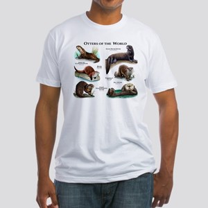 Otters of the World Fitted T-Shirt