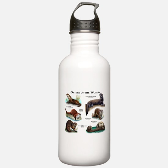 Otters of the World Water Bottle