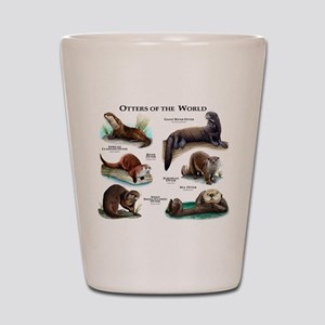 Otters of the World Shot Glass