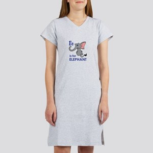 E IS FOR ELEPHANT Women's Nightshirt