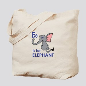 E IS FOR ELEPHANT Tote Bag
