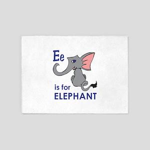 E IS FOR ELEPHANT 5'x7'Area Rug