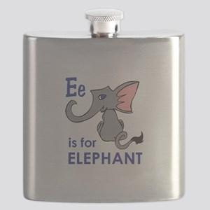 E IS FOR ELEPHANT Flask